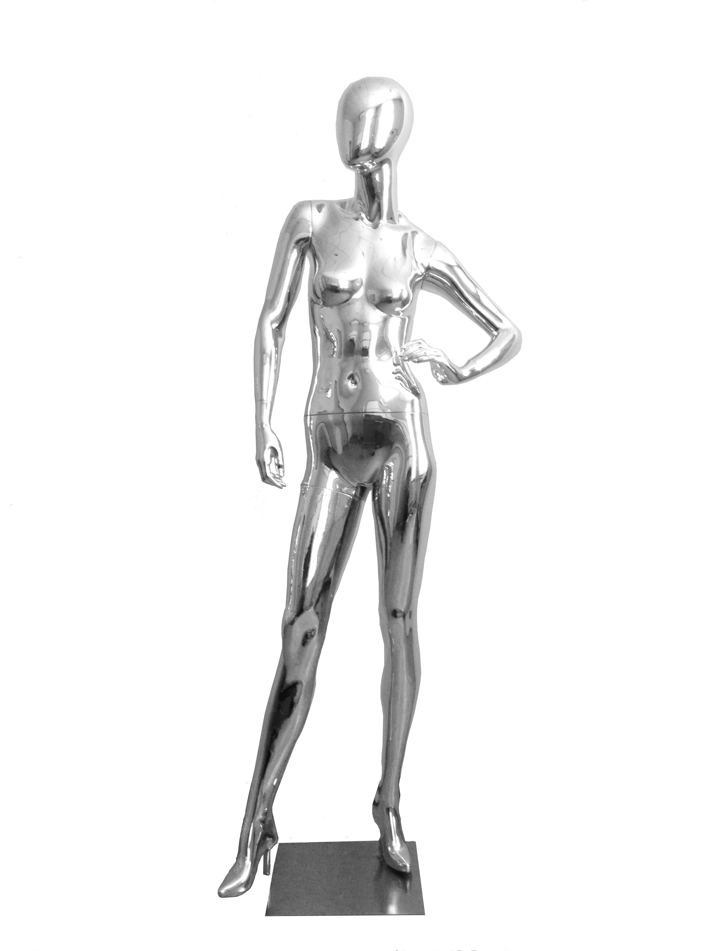 9193c7e11 Купить H-2 Манекен женский абстрактный хромированный, хромированный ...